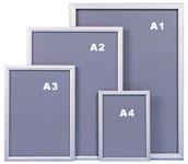 Алюминиевые рамки для постеров,  плакатов,  клик система 25,  32мм