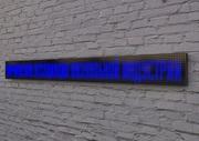 Светодиодная бегущая строка синяя (белая) 1280 мм х 320 мм